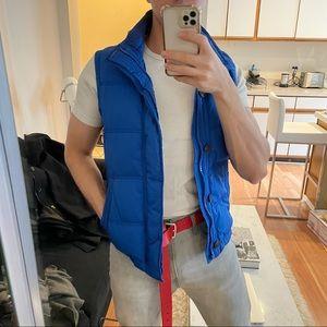 "Abercrombie kids bright blue down puffer ""kempshall jacket"" vest size boys XL 16"
